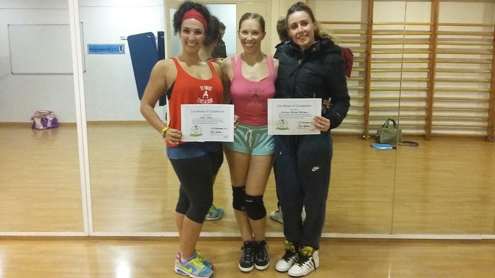 Meri Ortiz and Victoria Mosegui