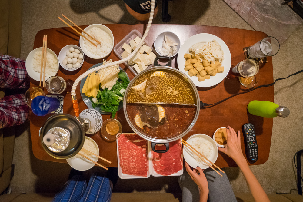 Cap it off with a hot pot feast. HELL. YES.