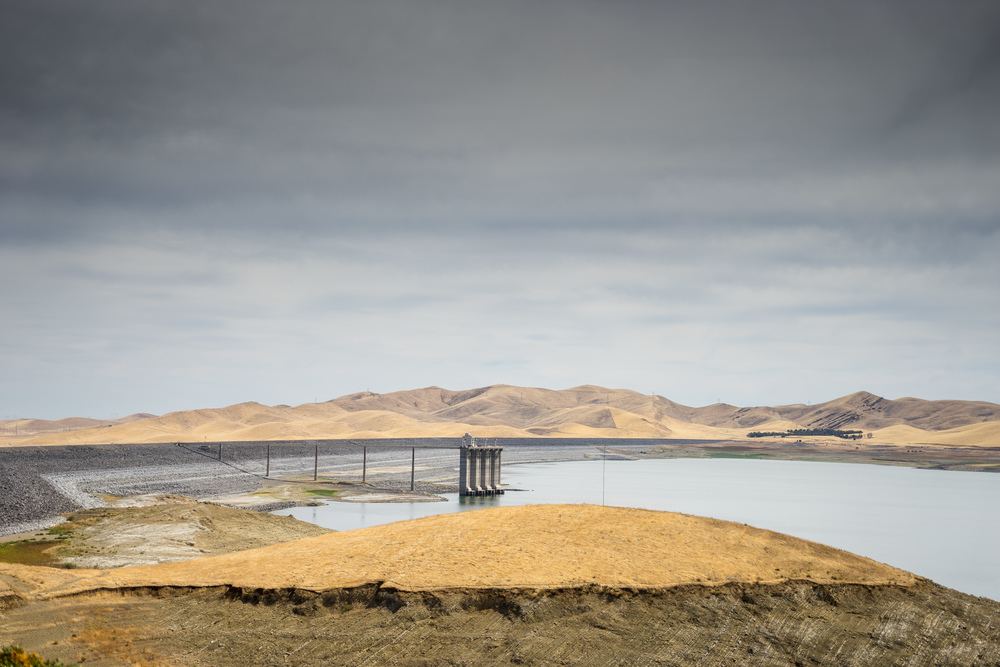 And here are a few snaps at the San Luis Reservoir on the way home. The water level is quite low.