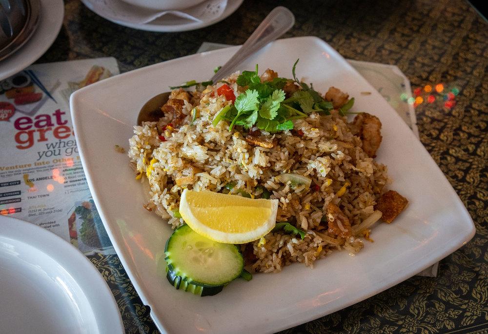 Spicy Crispy Pork Fried Rice