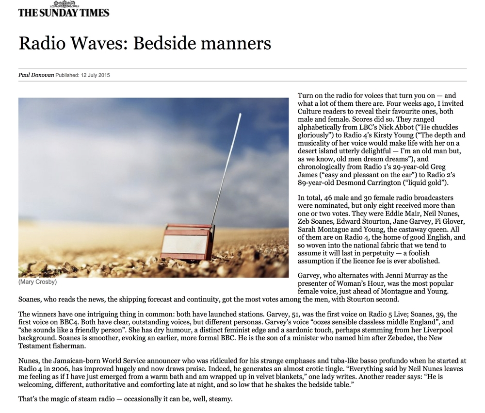 Radio Waves: Bedside manners | The Sunday Times.jpg