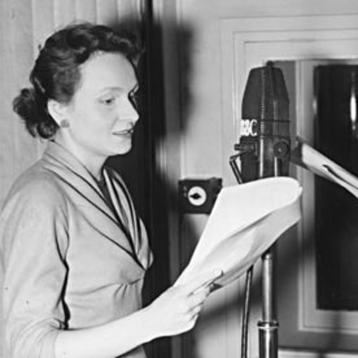 Ysanne Churchman recording The Archers