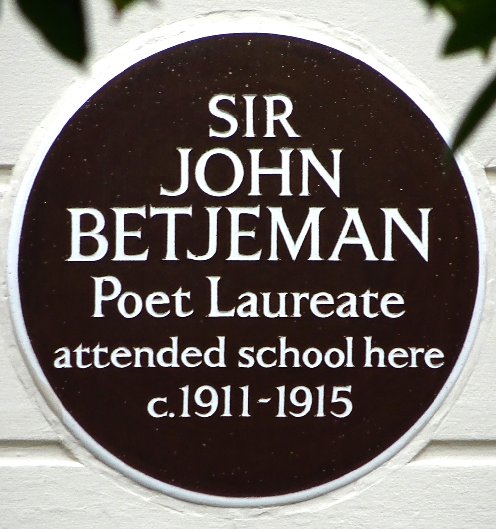 Byron House School, North Road, Highate was also attended by the young Elizabeth Taylor.  Betjeman gradtuated to the larger Highagte School across the road where he was taught by T.S. Elliot.