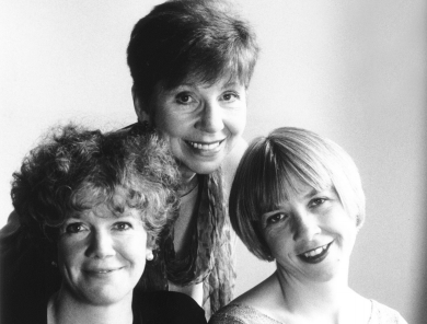 Carole Boyd with Nicola and Alexandra Bibby