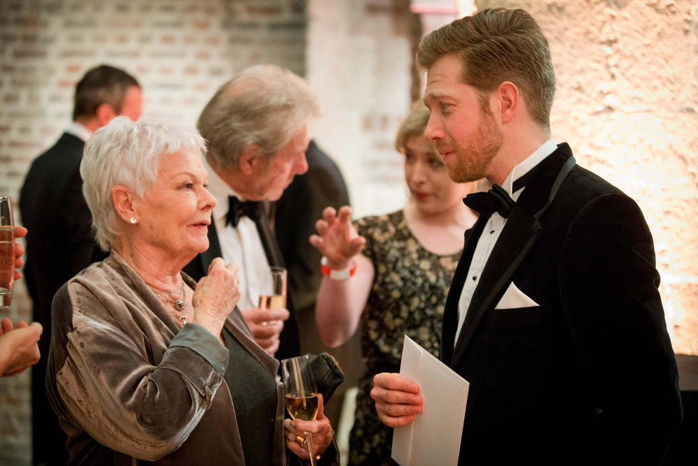 Hosting charity event with Dame Judi Dench