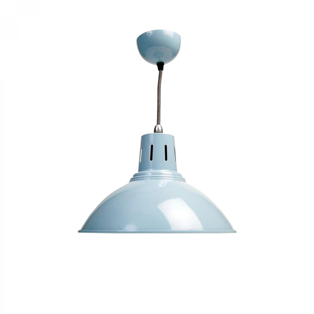 Milan Pendant Lamp in Blue by JD Burford/Howkapow - £30