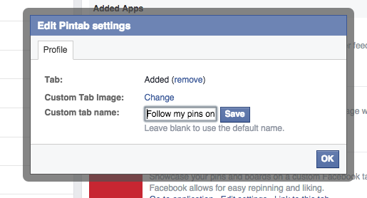 Changing Facebook Tabs