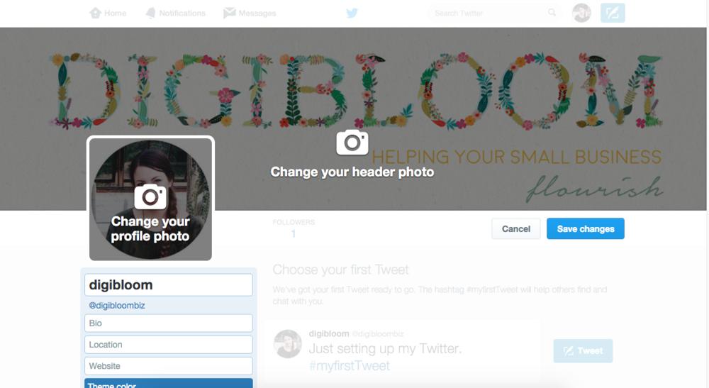 Small business Twitter tutorial - choosing an effective header image