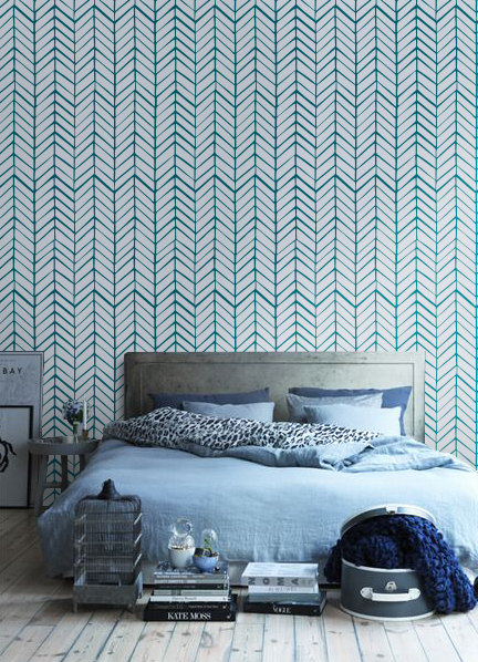 Chevron pattern self-adhesive vinyl wallpaper by Betapet