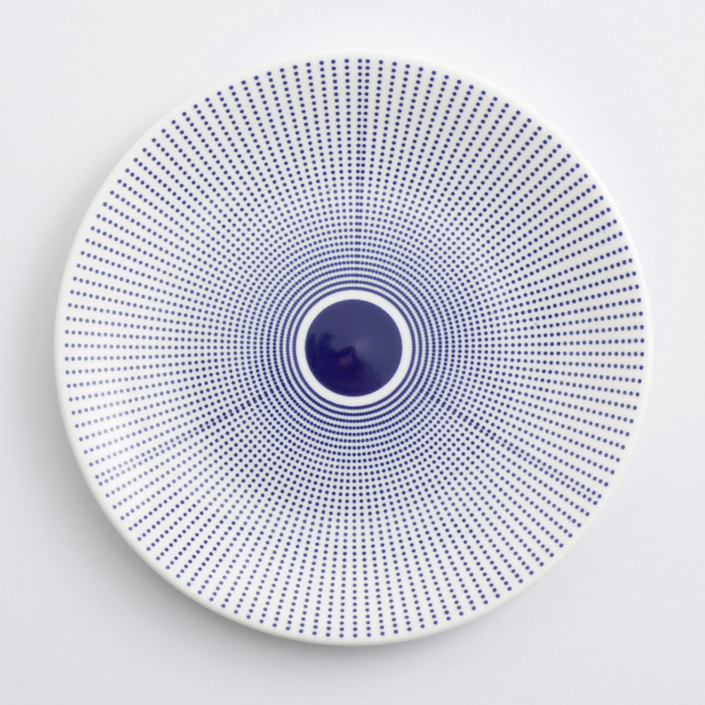 Contemporary patterned Pot Dot plate by CoBALTUMdesign