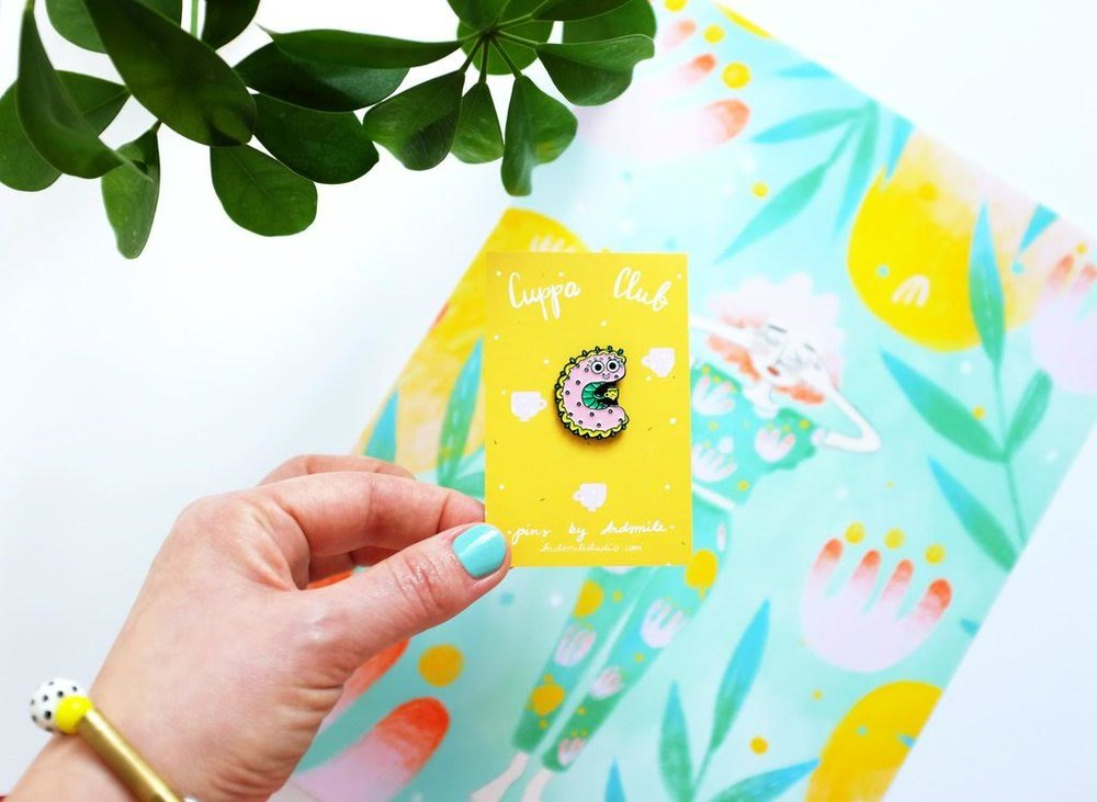 Win a cuppa club caterpillar enamel pin by Viktorija of Andsmile studio!.jpg
