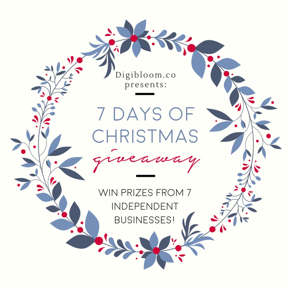 7 Days of Christmas giveaway on Digibloom blog!
