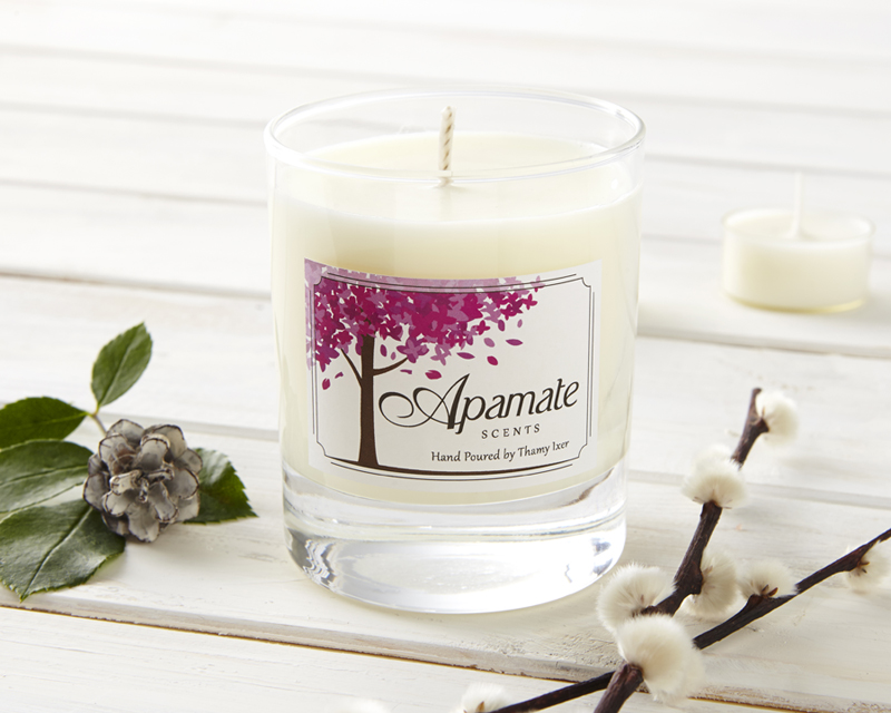 Enter to win a scented eucalyptus and pine needle scented candle by Apamate Scents!