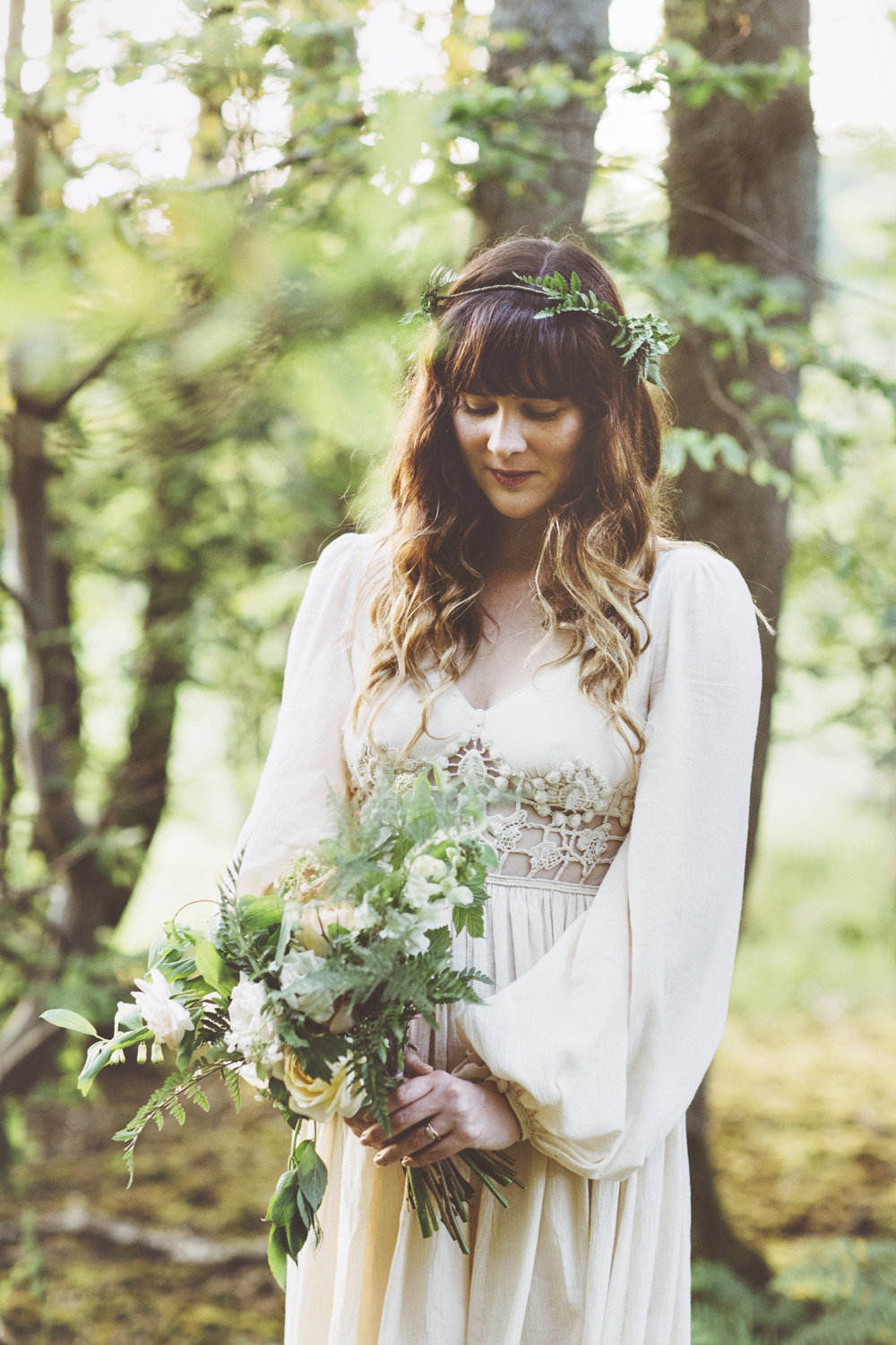 Photo:  On Love and Photography    Wedding dress:  Romany Ghani  Bride: Amity Gray