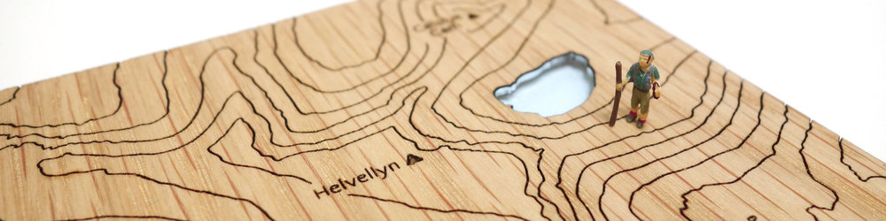 Topographical contour map art - laser cut wooden gifts by Of Alp and Ash