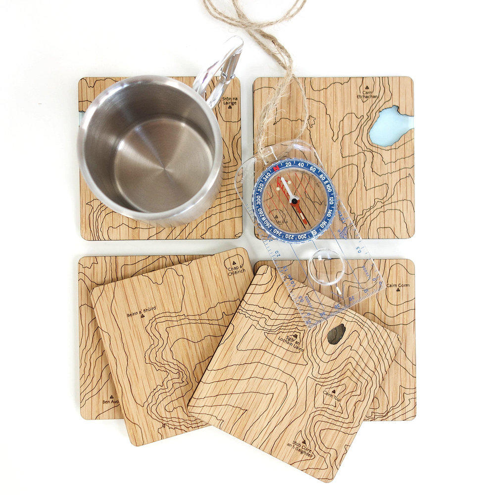 Caingorms map coasters