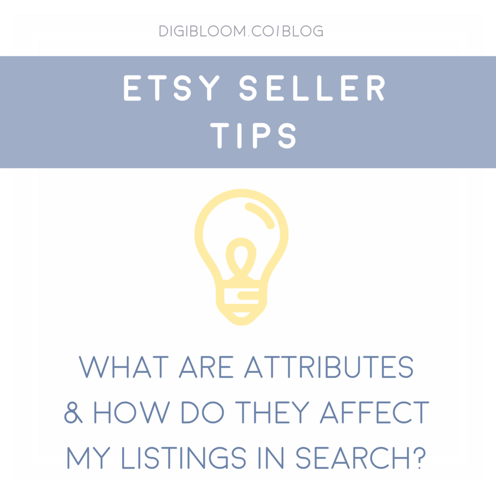 What are Etsy Attributes and how do they affect search relevancy?