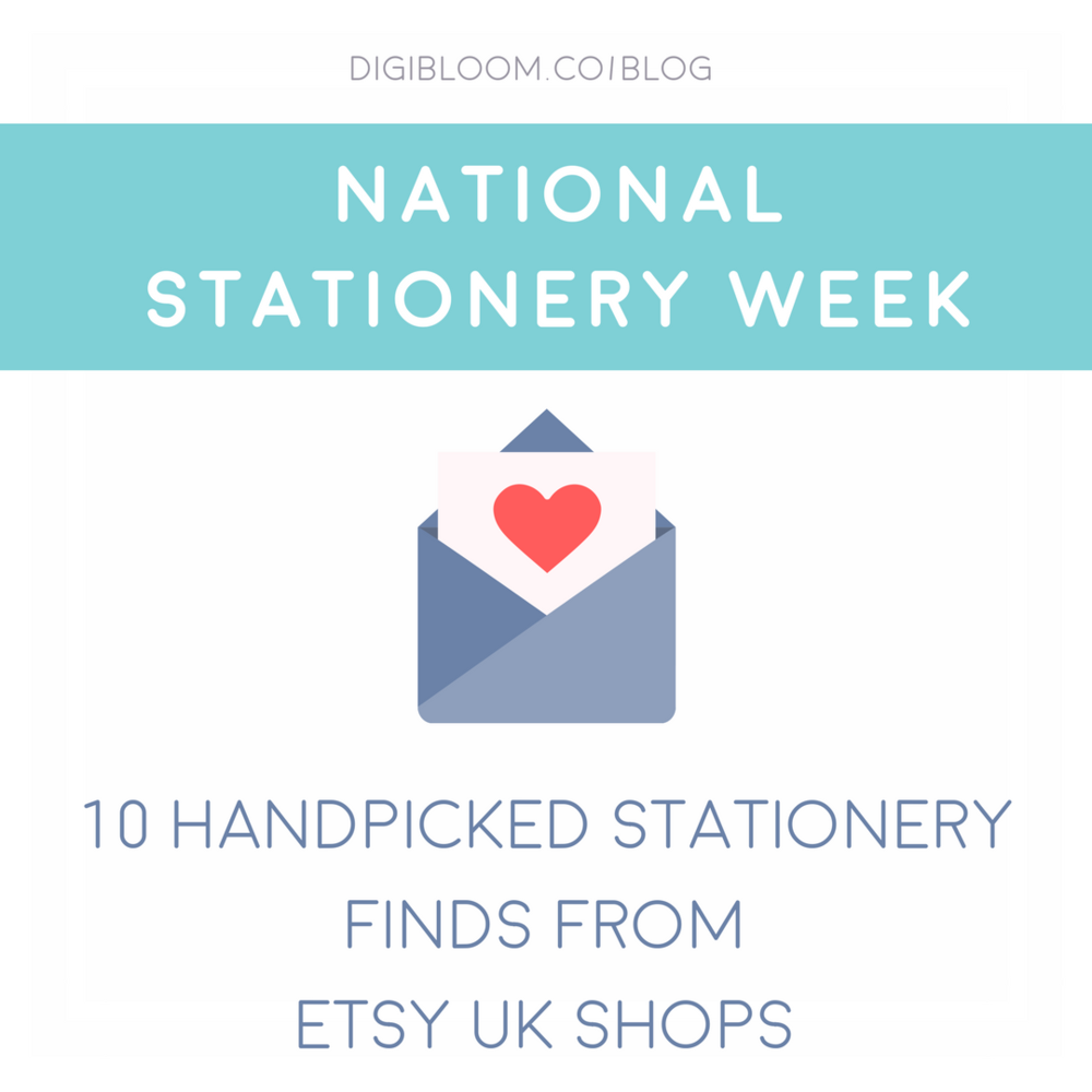 National Stationery Week 2017 - 10 handpicked stationery finds from EtsyUK shops