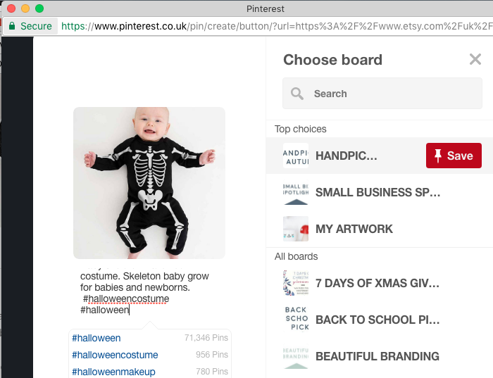 Skeleton baby grow image from Nappy Head.