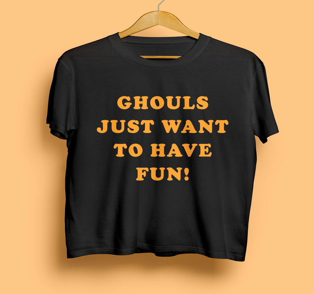 Halloween crop t-shirt