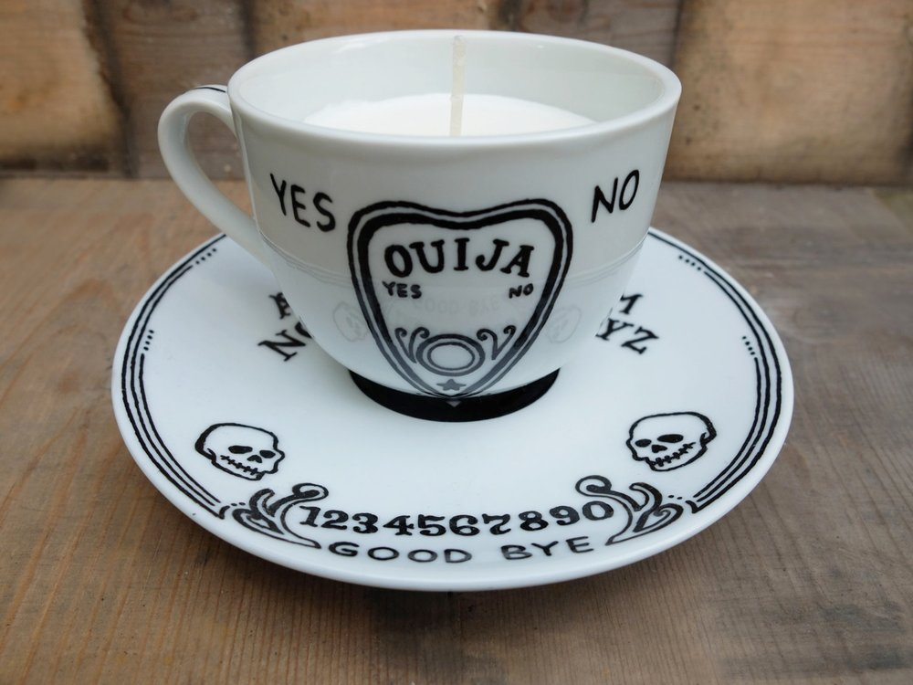 Ouija cup candle