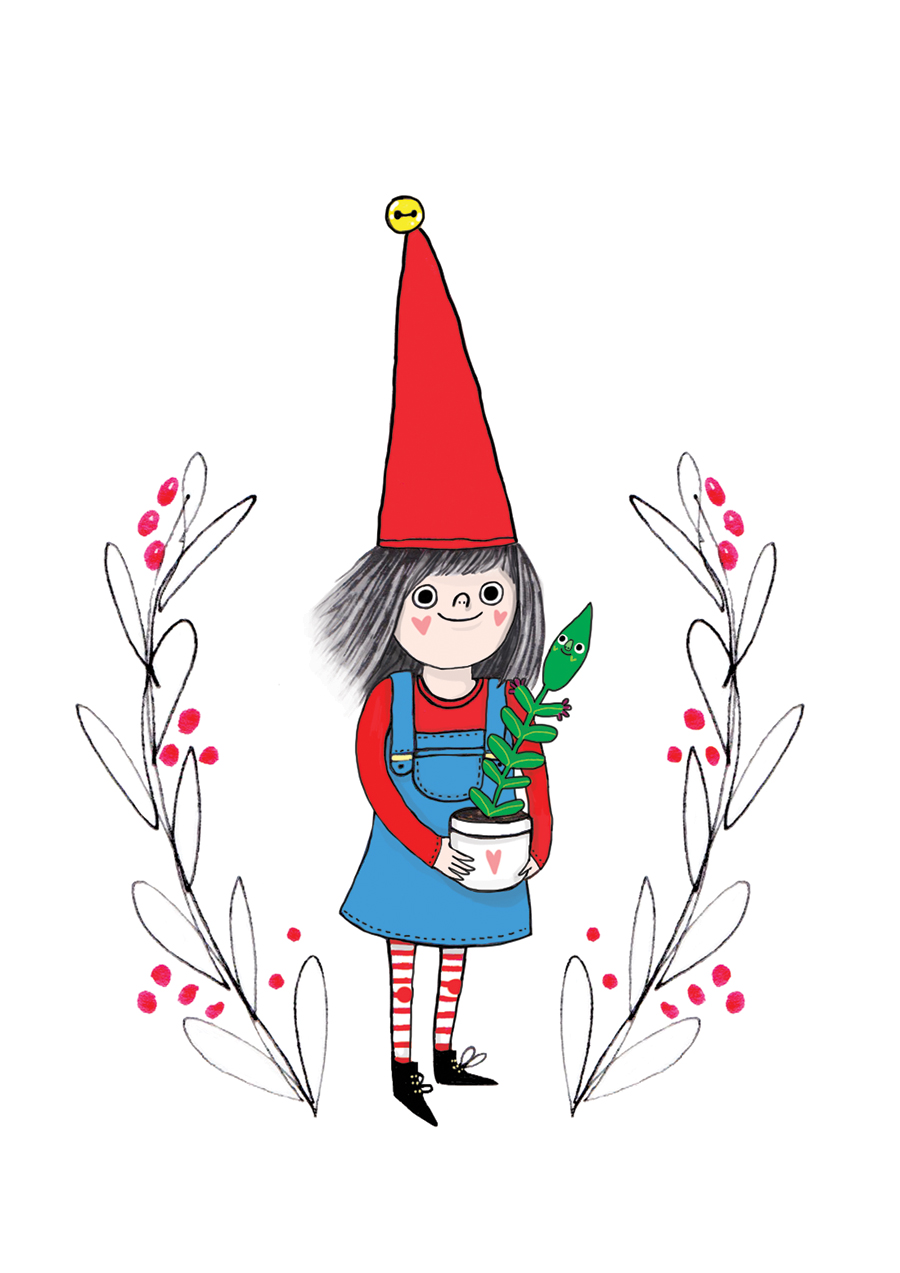 A tonttu girl - Finnish elves feature in my own work often. Yeah, maybe I still believe in them after all!
