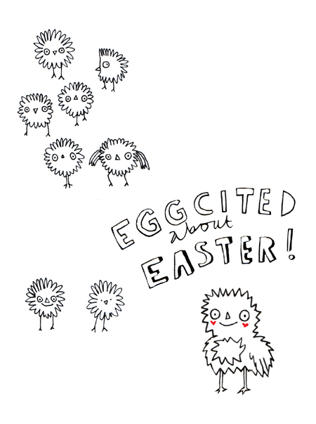 Eggcited about Easter card