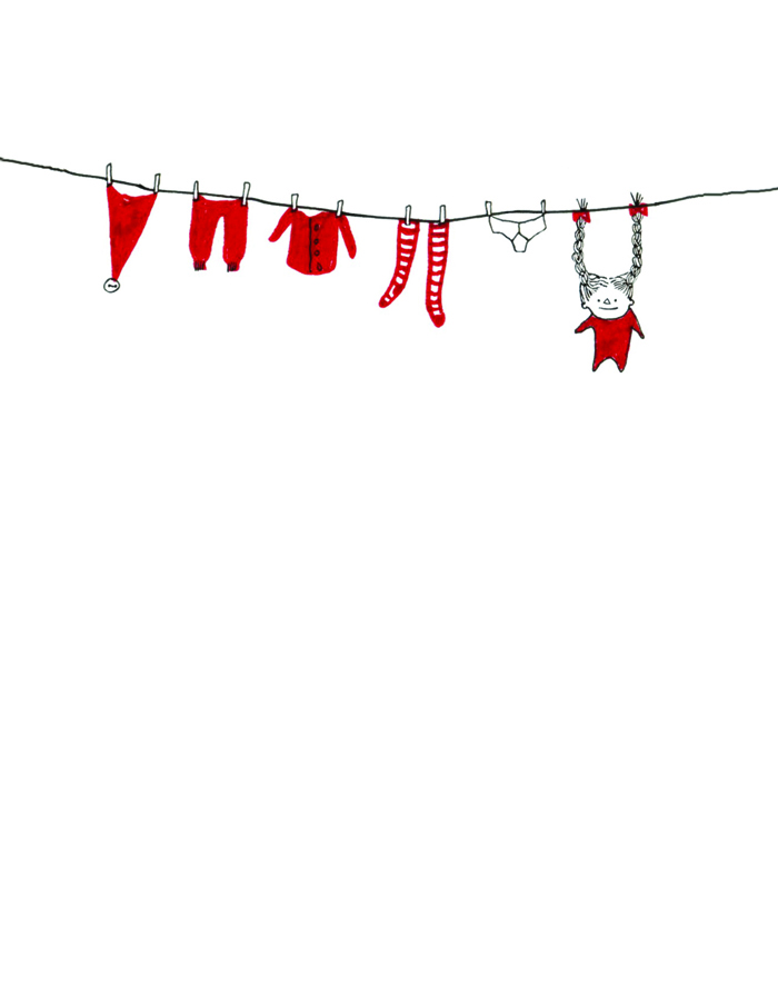 Christmas washing line elves