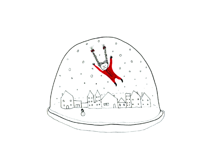 Snowglobe Christmas card