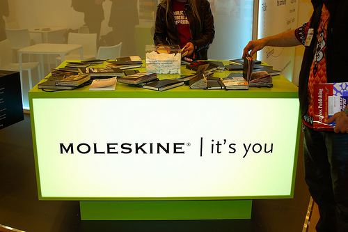 Moleskine Book Fair, London – photo courtesy of Sam Martin aka  howaboutno