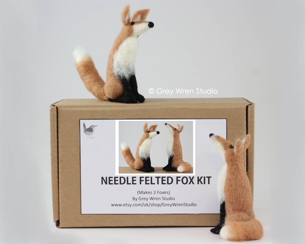 Needlefelted Fox Kit