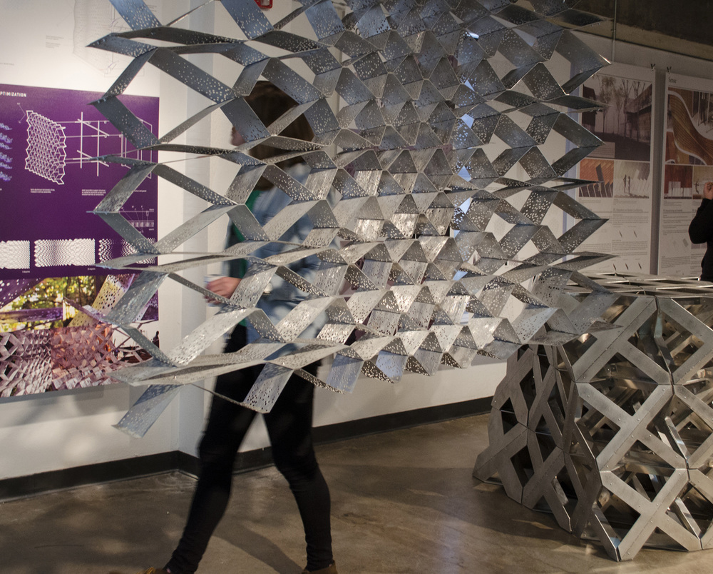 Ripple Architecture Studio project, Evaporative Skin, featured in the TEX-FAB SKIN Digital Assemblies Exhibition.