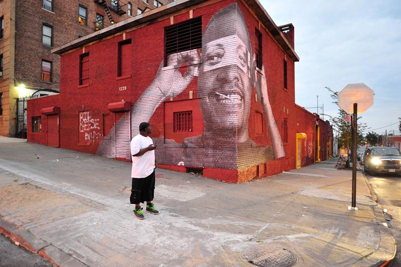 South Bronx (S) Heroes  , part of the JR Inside Out Project.
