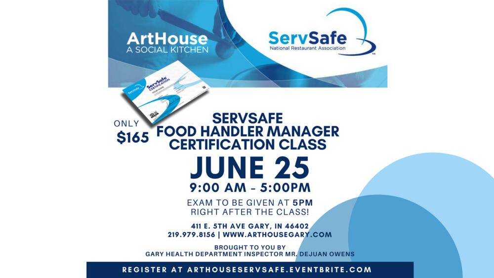 ArtHouse | ServSafe Food Handler Manager Certification Class — ArtHouse