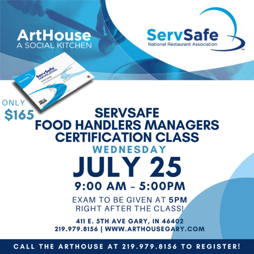 ArtHouse | ServSafe Food Handlers Managers Certification Class ...