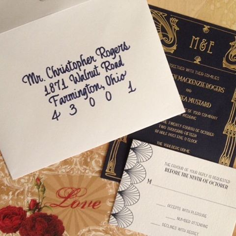 Engaged? Time to order some gorgeous stationary plus handwritten calligraphy from Sooner Calligraphy, Etc! Book your free consultation now! www.soonercalligraphy.com #invitations #weddinginvitations #calligraphy #savethedate