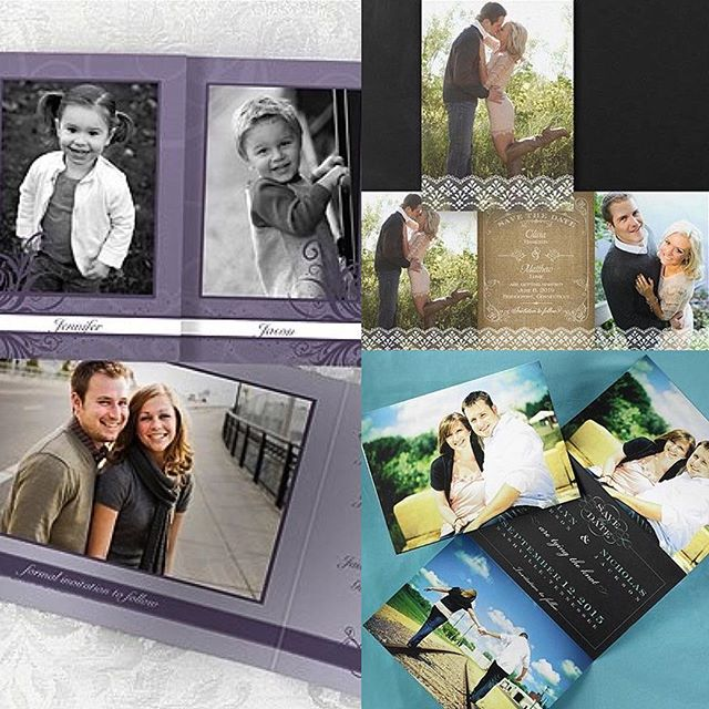 Need to save your date? View the budget-friendly tri-fold options from @carlsoncraft through @soonercalligraphy!