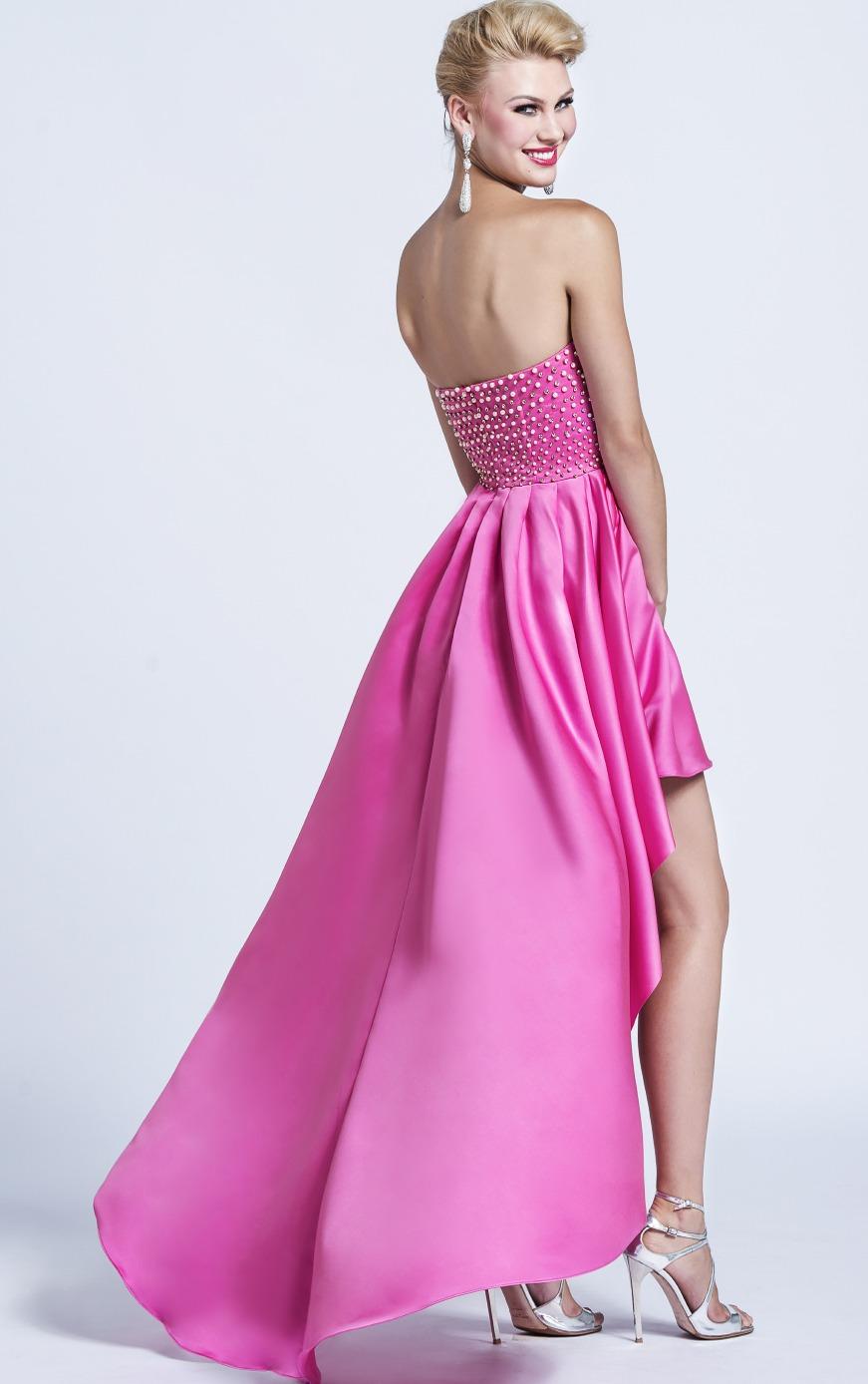 pink dress back