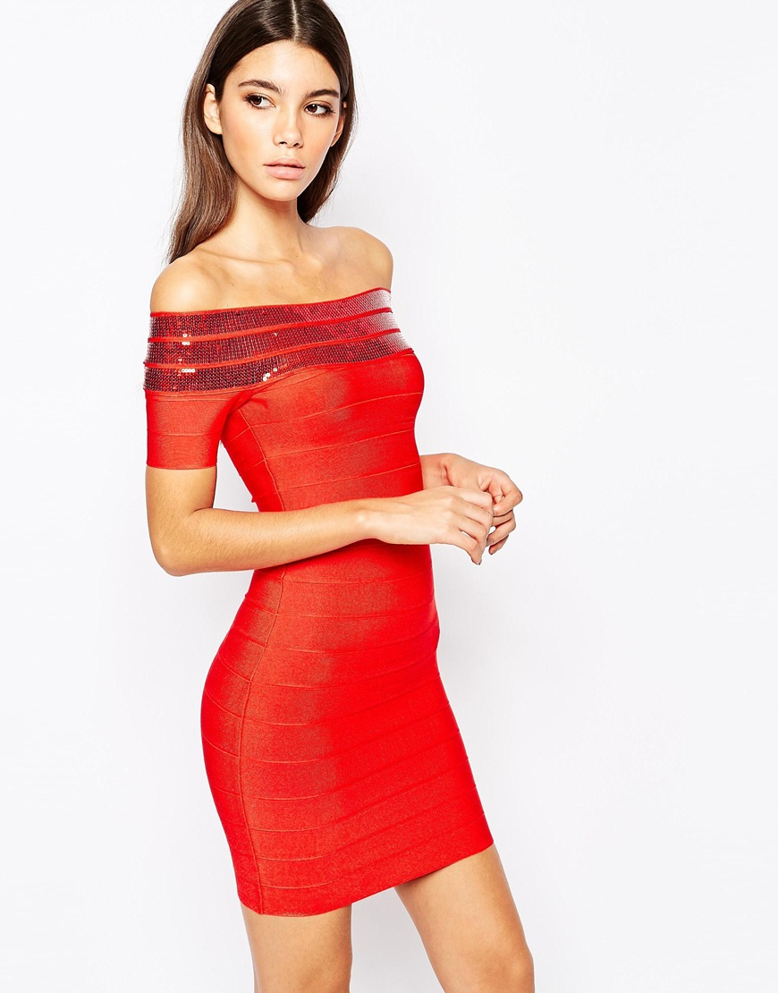 red asos dress