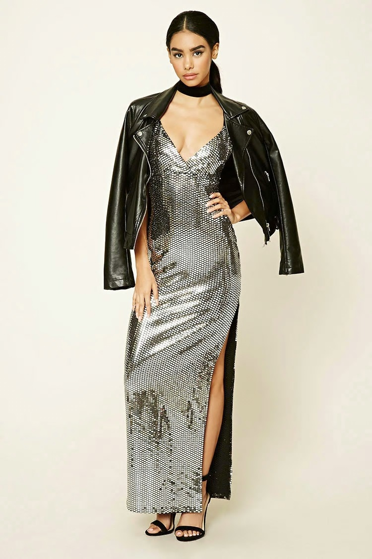 maxi dress silver affordable holiday look forever 21