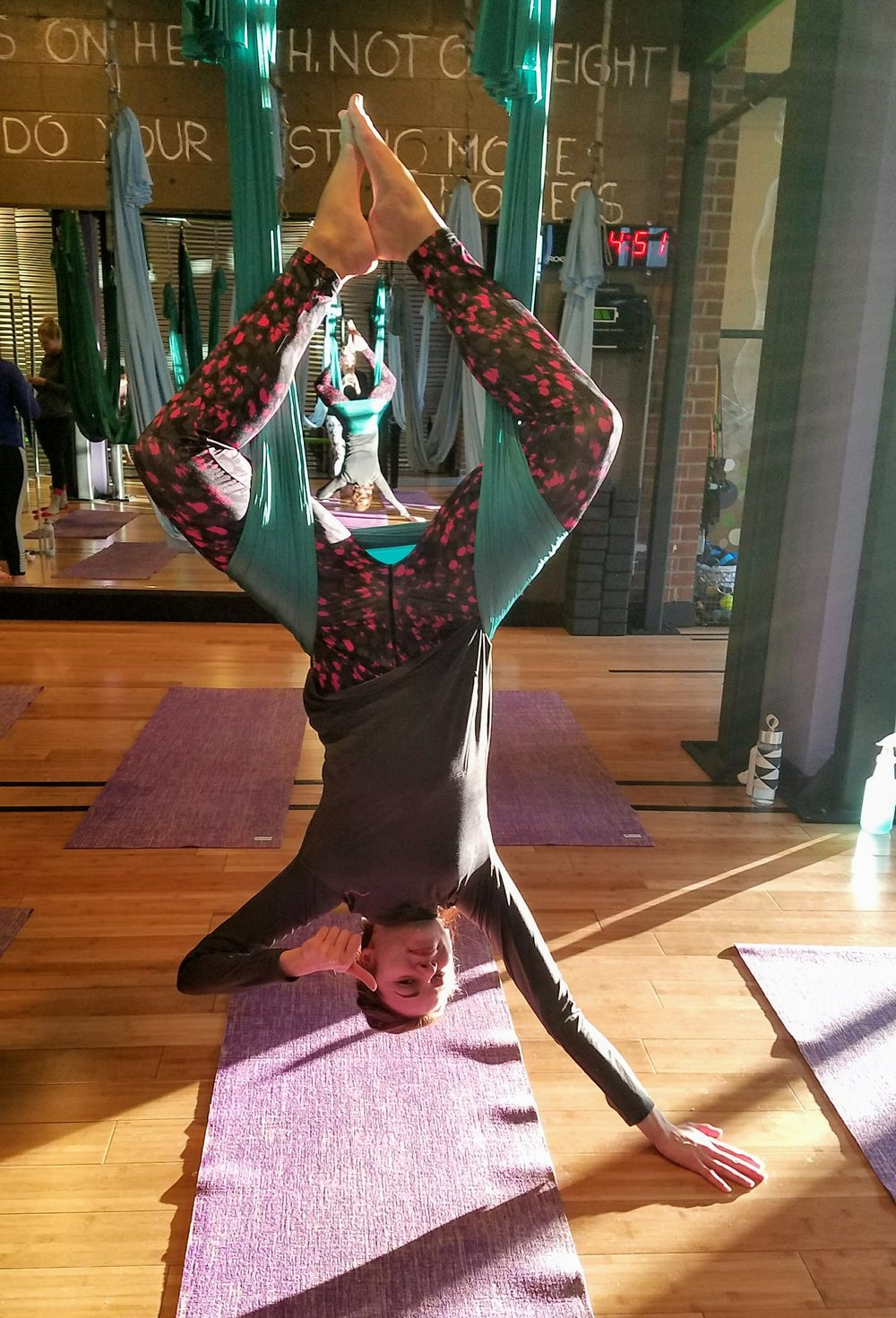 Inversion pose Aerial Yoga