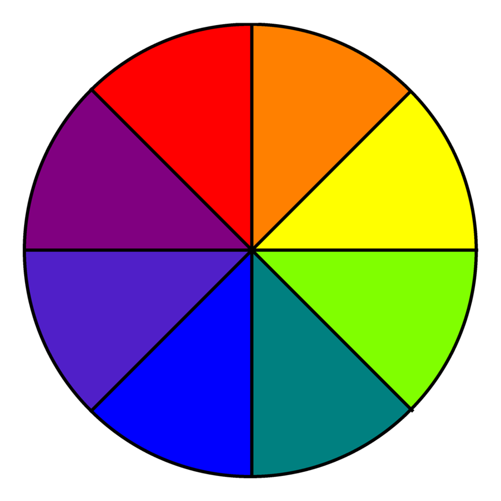 A photo of a colour correcting wheel.