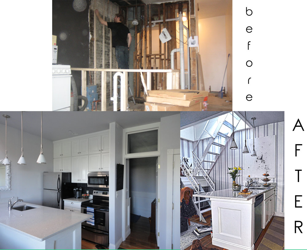 Reno on Comm. - David transformed this apartment on Commonwealth Ave by changing the layout, updating the kitchen and bathroom and adding a private roof deck.