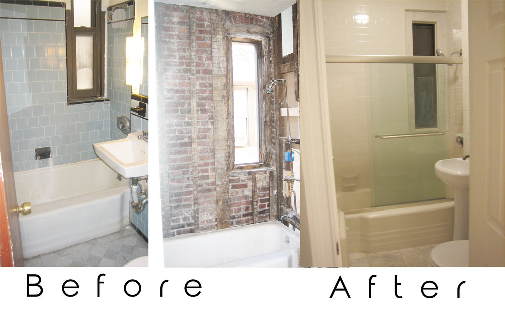 Bathroom Renovation - This one was mainly demo and tile work