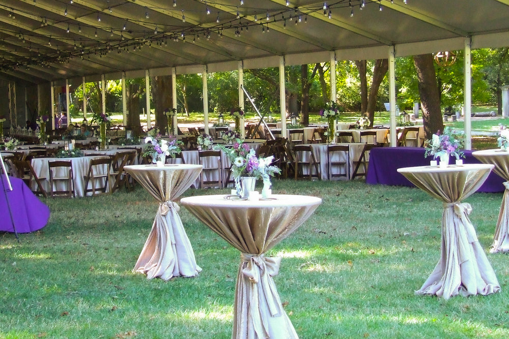 Tented Grove Reception.