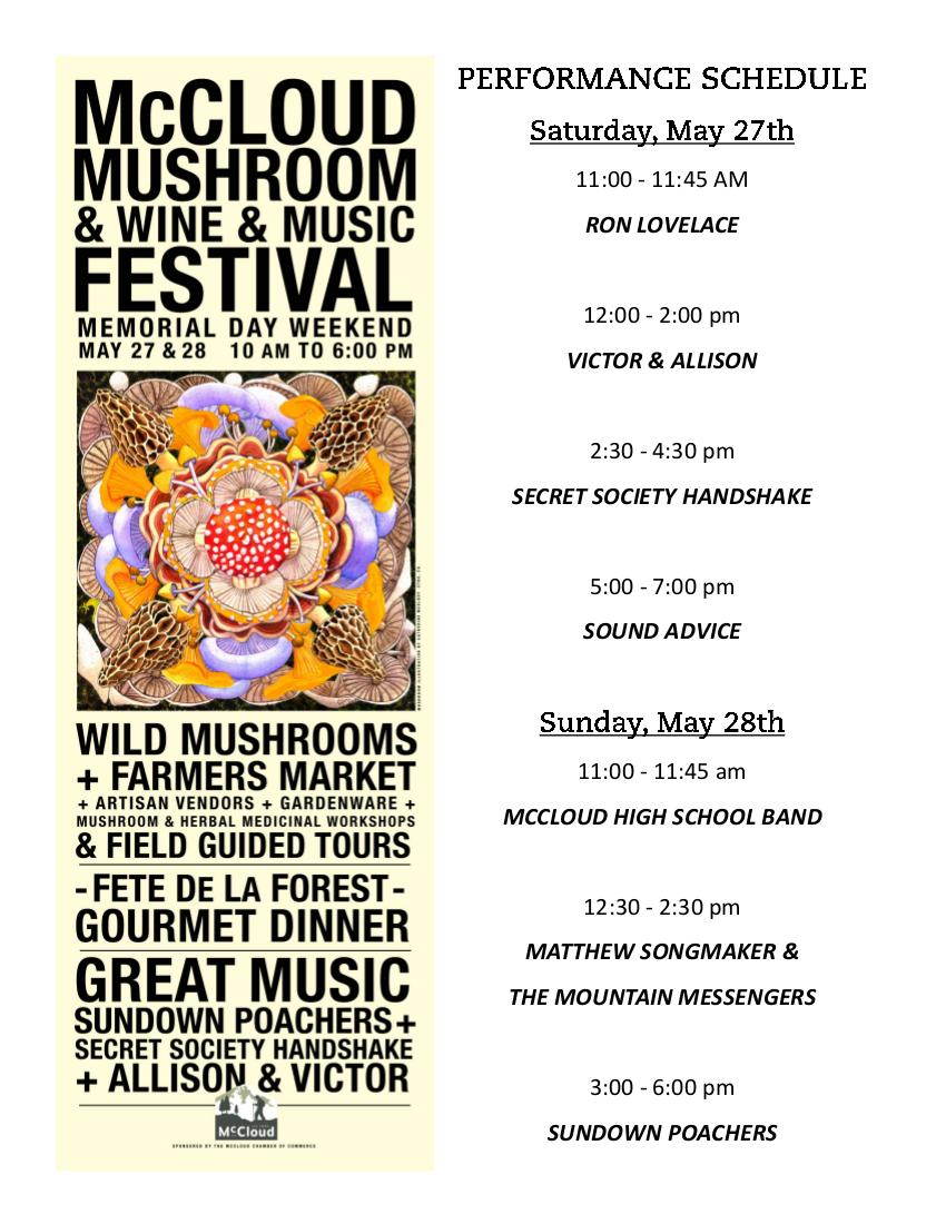 mushroom festival u0026 dinner u2014 mccloud chamber