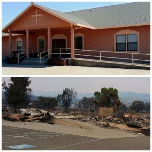 Hidden Valley Community Church was completely destroyed in the Valley Fire