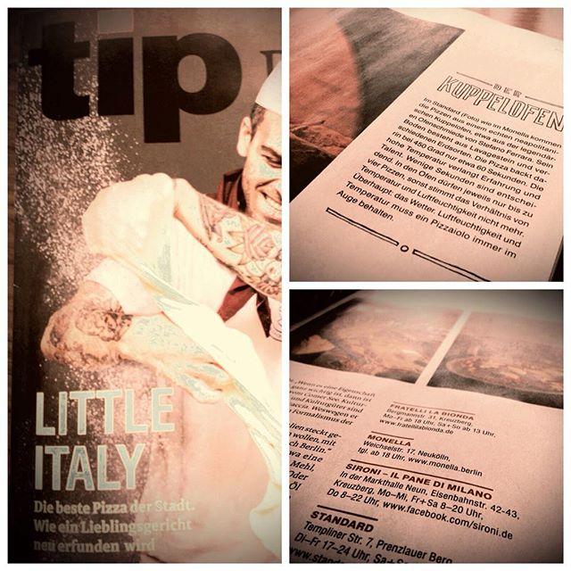 #Tip Magazin Cover Story Die beste #Pizza der Stadt!  Wir sind zwar mit unserem DiskoKugel-Pizza-Ofen nicht auf dem Cover (dennoch cooles Bild) aber der Artikel ist auch über uns: #Monella!  Wir machen keine 100% vera pizza napolitana, denn wir möchten die verrücktesten Sachen ausprobieren. Halten aber auch Traditionen hoch. #pizza neu interpretiert! Drinks italienisch inspiriert das ist Monella in Neukölln.  #newpizzageneration #pizzaculture #pizza4ever #monellabln #monella #foodie #foodinberlin #restaurantinberlin #welikeithot #neuköllnfood #bar #Drinks #italiandrinks #zola