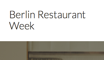 Berlin Restaurant Week, 2016