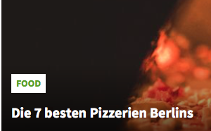MIX CITY BERLIN, Die 7 besten Pizzerien Berlins